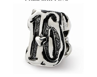 Sterling silver Sweet 16 Bead