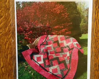 """Toolin' Around quilt pattern by Wendt Quilting. Can use binding tool, fat eighth friendly, 58""""x80"""" or 45""""x45"""""""