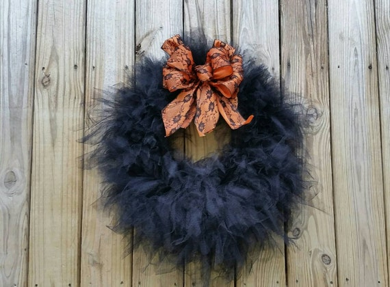 Halloween Wreath, Gossamer Black Wreath
