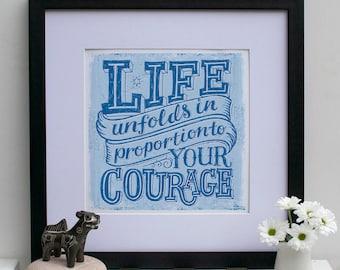 Life Unfolds Encouragement Print