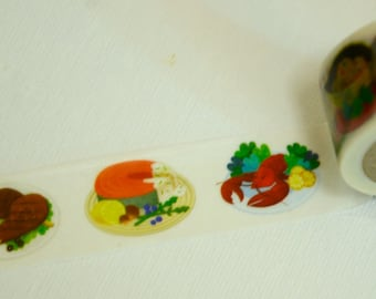 1 Roll of Japanese Washi Masking Tape:  Delicious Dishes