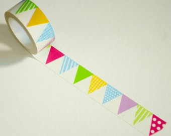 1 Roll of Japanese Washi Tape Roll- Colorful Garland