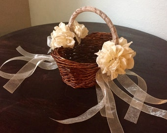 Two Baby Flower Girl Baskets