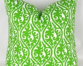 Ready to ship! Lime Green Throw Pillow Cover, Accent Pillow, Decorative Cushion, Kimono Chartreuse, Premier Prints, for 16x16 20x20 pillow