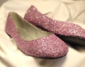 LAVENDER WEDDING SHOES~Lavender Glittered~Women's Size 9~No Bows~Bridal Shoes~Clearance Priced! Fast Shipping!