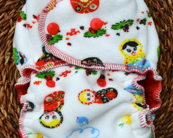 Russian Doll One Size Fitted Diaper