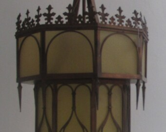 Gothic Style Chandeliers,Ceiling Lantern Light,Large Gothic Amber Chandelier,Style Decoration Lighting Antique,Chinese Classical Chandelier
