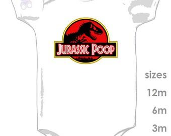 Jurassic Park Funny Onesie - Jurassic World - Jurassic Poop Funny Baby Clothing - Dinosaurs