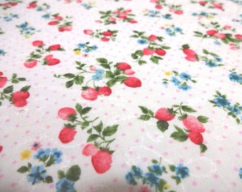 Japanese Fabric Lace Strawberry Pink Dots Fat Quarter
