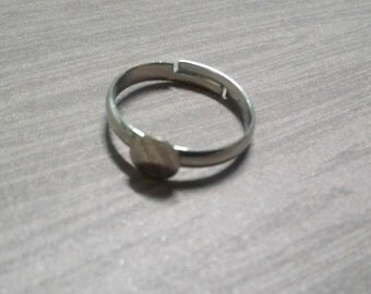Ring Blanks Silver Adjustable Blank Rings 2 pieces SAMPLE