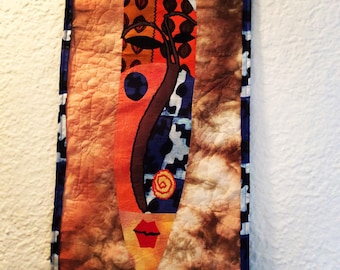 African mask quilt