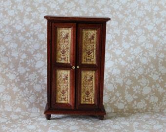 Dollhouse miniature Tuscan cabinet