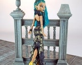 Handmade Monster High Egyptian style couture doll gown