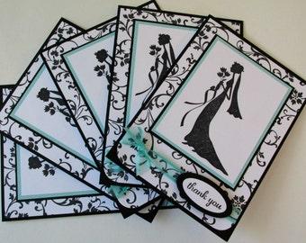 Handmade Bridesmaid Wedding Party Thank You Cards