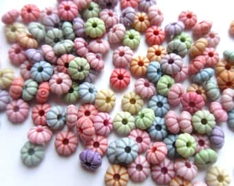 30 Mixed Color Acrylic Sweet Tart Candy Style Rondelle Beads 5x2mm    -S1AMTS1