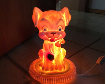 Vintage Rubber Puppy Night Light