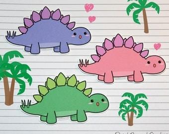 Chibi Stegosaurus Stickers and Magnets