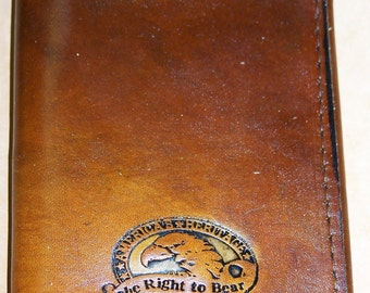 Hand Made Leather Wallet ~ Right to Bear Arms~Personalized~Show your Support to the U.S. Constitution~Hamd made to Order!