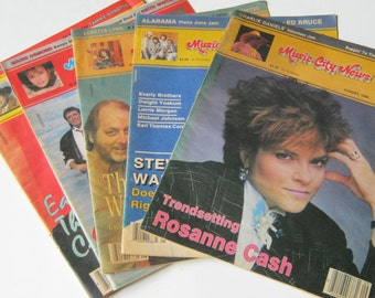 MUSIC CITY NEWS, Five Issues, April, July, August, September, October 1986