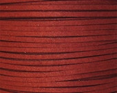 Fire Brick Faux Suede Fiber Cording, DIY jewelry making cording, Man made faux suede cording strands, 10 / 2.50, by Color Kissed Silk LLC.