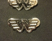 Waylon Jennings Pins Hollow and Solid Fill Flying W