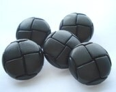25mm Grey Resin Football Buttons Pack of 5 Grey Buttons R131