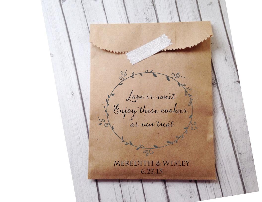 Wedding favor bags cookie buffet bags cookie by for Cookie bags for wedding