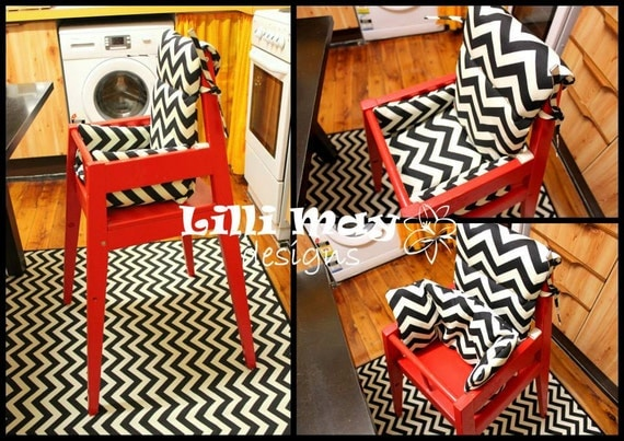 Blames Chair Pad High Chair By LilliMaydesigns On Etsy