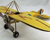 Antique/Vintage WWII Toy Airplane, Metal - Big Boys' Toy, Possibly Handmade  AW2