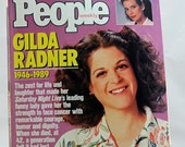 Death of Gilda Radner, And the Whole World Cried, Saturday Night Live's Gilda Radner Dead At age 42, 1989 People Magazine  #11