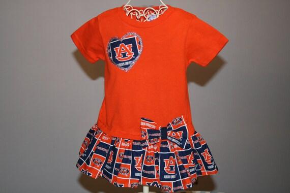 2T Orange Baby Girls AUBURN UNIVERSITY Tshirt by