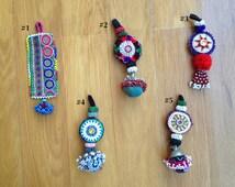 Vintage Afghani Beaded Tribal Tassels