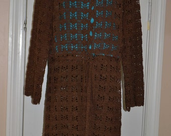 Beautiful Shadows Custom Made Cotton Size Hand Crocheted Sweater - Sizes 0 to 20