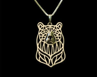 Bear - Gold pendant and necklace
