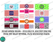 Beach Spiker Wrap SVG, DXF, EPS Ultimate Package - Digital Cut Files - over 100 wraps! Vinyl - Vector - Silhouette - Cricut, Make the Cut