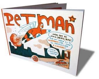 Petman, handmade screenprint comic