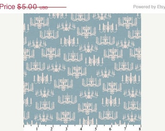 CLEARANCE Victorian Chandelier in Light Teal by Wild Apple for David Textiles