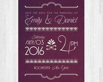 The Natalie | Art Deco Save The Date