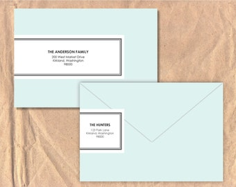 Printable and Editable Wrap Around Address Labels: Classic Border