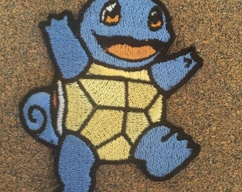 Pokemon Squirtle Iron on or sew on Patches