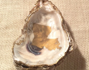 Large Oyster Dish with Gold or Black State