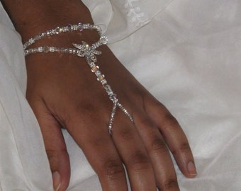 Swarovski Bridal Slave Bracelet Bridal Jewelry Wedding Jewelry Bracelet Wedding Hand Jewelry
