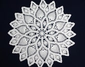 2 doilies made by thick cotton yarn, diameter 36.5 cm