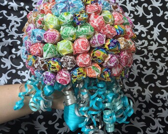 "Dum Dum Lollipop or Mini Tootsie Pop Handheld Candy Bouquet / ""Suck for a buck"" Bachelorette / Promposal"