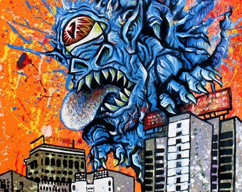The Beast of the Birmingham Skyline - Print
