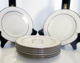 Franciscan Masterpiece China - Moon Glow Pattern USA - Bread and Butter Plates with Platinum Trim - Set of 4 (2 Sets Available)