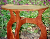 "Solid Hardwood Accent Table - ""Demi Icon"" Half Round Side Table or End Table"