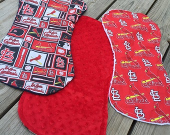 St Louis Cardinals burp cloths. Set of 3