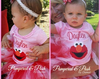 Photo, Birthday, 1st Birthday Elmo Outfit, Elmo Tutu Outfit, Elmo 1st Birthday, 1st Birthday Elmo, Sesame Street Birthday