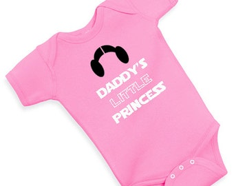 daddy's little princess star wars one piece creeper GIRLY cute funny adorable bodysuit baby shower baby girl